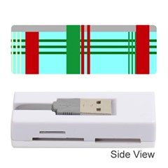 Christmas Plaid Backgrounds Plaid Memory Card Reader (stick)