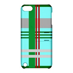 Christmas Plaid Backgrounds Plaid Apple Ipod Touch 5 Hardshell Case With Stand