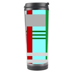 Christmas Plaid Backgrounds Plaid Travel Tumbler