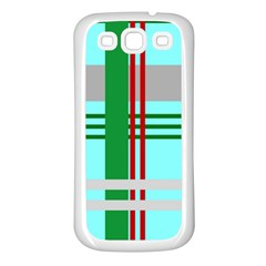 Christmas Plaid Backgrounds Plaid Samsung Galaxy S3 Back Case (white)