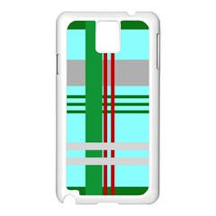 Christmas Plaid Backgrounds Plaid Samsung Galaxy Note 3 N9005 Case (white)
