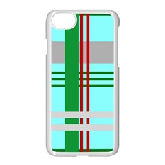 Christmas Plaid Backgrounds Plaid Apple Iphone 7 Seamless Case (white)