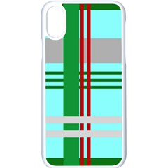 Christmas Plaid Backgrounds Plaid Apple Iphone X Seamless Case (white)