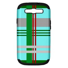 Christmas Plaid Backgrounds Plaid Samsung Galaxy S Iii Hardshell Case (pc+silicone)