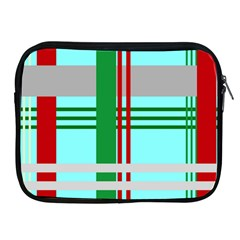 Christmas Plaid Backgrounds Plaid Apple Ipad 2/3/4 Zipper Cases