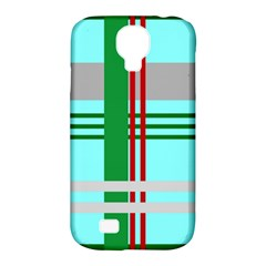 Christmas Plaid Backgrounds Plaid Samsung Galaxy S4 Classic Hardshell Case (pc+silicone)
