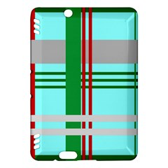 Christmas Plaid Backgrounds Plaid Kindle Fire Hdx Hardshell Case