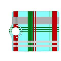 Christmas Plaid Backgrounds Plaid Kindle Fire Hdx 8 9  Flip 360 Case