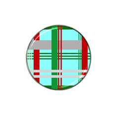 Christmas Plaid Backgrounds Plaid Hat Clip Ball Marker (4 Pack)