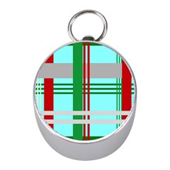 Christmas Plaid Backgrounds Plaid Mini Silver Compasses