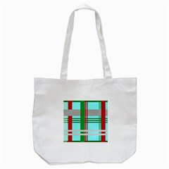Christmas Plaid Backgrounds Plaid Tote Bag (white)