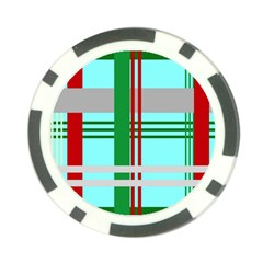 Christmas Plaid Backgrounds Plaid Poker Chip Card Guard (10 Pack)