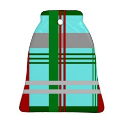 Christmas Plaid Backgrounds Plaid Bell Ornament (two Sides)