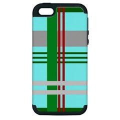 Christmas Plaid Backgrounds Plaid Apple Iphone 5 Hardshell Case (pc+silicone)