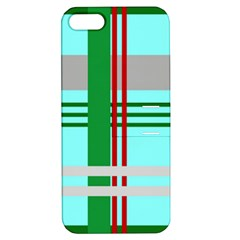 Christmas Plaid Backgrounds Plaid Apple Iphone 5 Hardshell Case With Stand