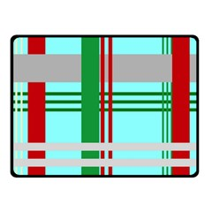 Christmas Plaid Backgrounds Plaid Double Sided Fleece Blanket (small)