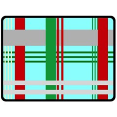 Christmas Plaid Backgrounds Plaid Double Sided Fleece Blanket (large)