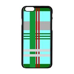 Christmas Plaid Backgrounds Plaid Apple Iphone 6/6s Black Enamel Case