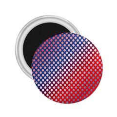 Dots Red White Blue Gradient 2 25  Magnets