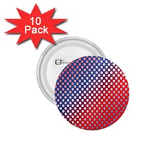 Dots Red White Blue Gradient 1 75  Buttons (10 Pack)