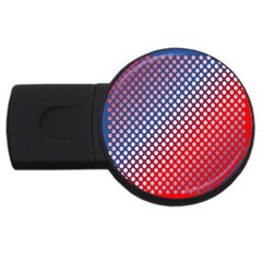 Dots Red White Blue Gradient Usb Flash Drive Round (2 Gb)