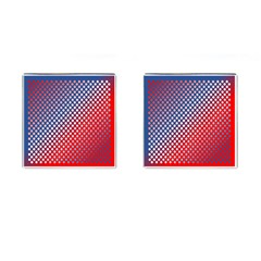 Dots Red White Blue Gradient Cufflinks (square)