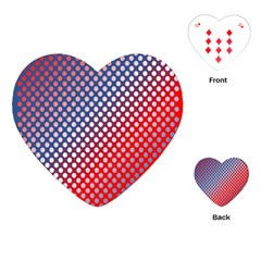Dots Red White Blue Gradient Playing Cards (heart)