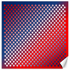 Dots Red White Blue Gradient Canvas 16  X 16