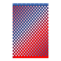 Dots Red White Blue Gradient Shower Curtain 48  X 72  (small)