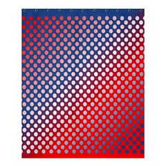 Dots Red White Blue Gradient Shower Curtain 60  X 72  (medium)