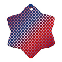 Dots Red White Blue Gradient Ornament (snowflake)