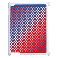 Dots Red White Blue Gradient Apple Ipad 2 Case (white)