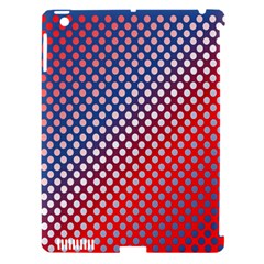 Dots Red White Blue Gradient Apple Ipad 3/4 Hardshell Case (compatible With Smart Cover)