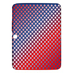 Dots Red White Blue Gradient Samsung Galaxy Tab 3 (10 1 ) P5200 Hardshell Case