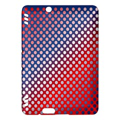 Dots Red White Blue Gradient Kindle Fire Hdx Hardshell Case