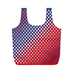 Dots Red White Blue Gradient Full Print Recycle Bags (m)