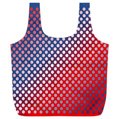 Dots Red White Blue Gradient Full Print Recycle Bags (l)
