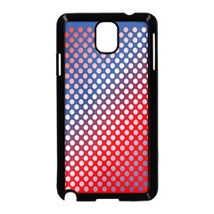 Dots Red White Blue Gradient Samsung Galaxy Note 3 Neo Hardshell Case (black)