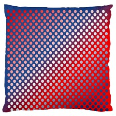Dots Red White Blue Gradient Large Flano Cushion Case (two Sides)