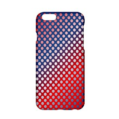 Dots Red White Blue Gradient Apple Iphone 6/6s Hardshell Case