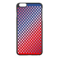 Dots Red White Blue Gradient Apple Iphone 6 Plus/6s Plus Black Enamel Case
