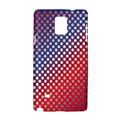 Dots Red White Blue Gradient Samsung Galaxy Note 4 Hardshell Case