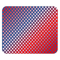 Dots Red White Blue Gradient Double Sided Flano Blanket (small)