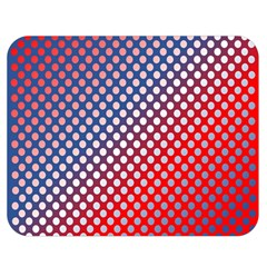 Dots Red White Blue Gradient Double Sided Flano Blanket (medium)