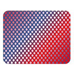 Dots Red White Blue Gradient Double Sided Flano Blanket (large)