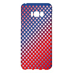Dots Red White Blue Gradient Samsung Galaxy S8 Plus Hardshell Case