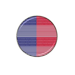 American Flag Patriot Red White Hat Clip Ball Marker