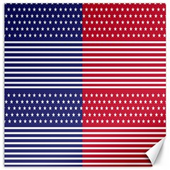 American Flag Patriot Red White Canvas 16  X 16
