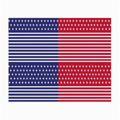 American Flag Patriot Red White Small Glasses Cloth (2 Side)