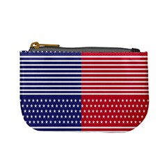 American Flag Patriot Red White Mini Coin Purses